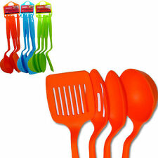"4PC Nylon Slotted Spatula Turner Spoons Utensils Set Kitchenware 11"" Long ADK-64"