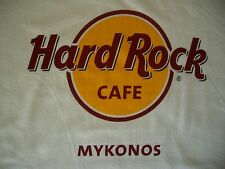 HRC Hard Rock Cafe Mykonos Greece Classic White Tee Shirt Size M neu new NWT