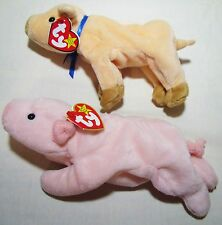 Ty 1993 PVC Squealer 4005 Tag Errors Oddity Pig Beanie Bag Babies Lot Knuckles