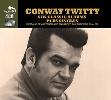 Conway Twitty SIX CLASSIC ALBUMS + SINGLES Remastered 93 TRACK New Sealed 4 CD