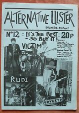 ALTERNATIVE ULSTER #12 Original 1978  N.Irish Punk Fanzine Victim Rudi Adverts