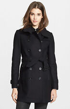 Auth BURBERRY BRIT Daylesmoore Wool blend Trench Coat Navy US 14 UK 16 NWT $1.3K