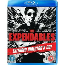 THE EXPENDABLES BLU-RAY w/ SYLVESTER STALLONE & BRUCE WILLIS