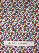 Timeless Treasures Fabric - Candy Bubblegum Gum Balls Rainbow Packed YARDS
