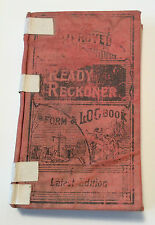 Ready Reckoner Book 1943 Antique Form Log Latest Edition Pocket Sized Calculator
