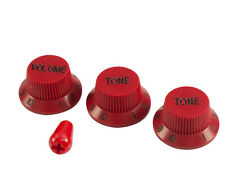 Blood Red Knob & tip set 1 vol, 2 tones and switch tip Fits Ibanez RG guitars