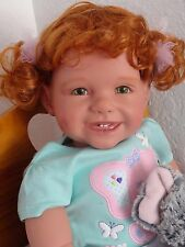 "Reborn 22""Toddler Girl Doll ""Shelby"" and ""Ellie Elephant"""
