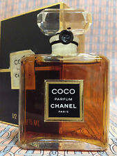 Vintage 1980s Chanel COCO 1/2 oz 15 ml Pure Parfum CRYSTAL Bottle FIRST FORMULA