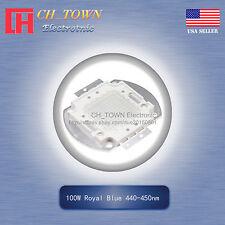 1Pcs 100W Watt High Power Royal Blue 440-450nm SMD LED Blub Lamp Plant Chip