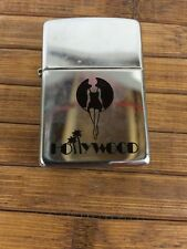 VINTAGE HOLLYWOOD  ZIPPO LIGHTER, 1994 MARKED D  X, CHROME FINISH