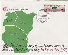 AFRICA ORIENTALE (Kut) 1972-3 FDC copre (4)