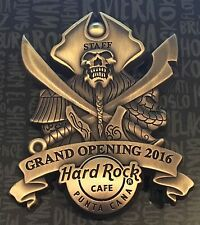 HARD ROCK CAFE PUNTA CANA GRAND OPENING STAFF PIN PIRATE SKULL 2016