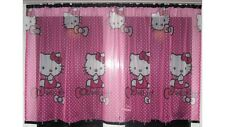 De Lujo Hello Kitty Encaje neto Voile Cortina con ranura Top Fit & Cintas