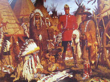 Canadian Mountie RCMP  with Traders, Indians A.Friberg