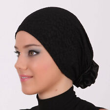 US Seller NEW Women Bonnet Cancer Chemo Hijab Turban Cap Beanie Hat Scarf Lace .
