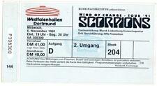Scorpions - World of Change Tour`91 altes Konzert-Ticket - Dortmund 06.11.1991