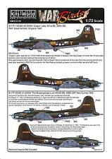 Kits World Decals 1/72 B-17F FLYING FORTRESS Dragon Lady & Lady Luck