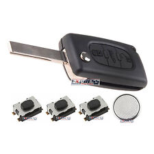 For CITROEN C4 GRAND PICASSO 3 Button Remote Control Key Fob Case Repair Kit