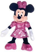 "NEW OFFICIAL DISNEY 12"" MINNIE MOUSE GLITTER PLUSH SOFT TOY"