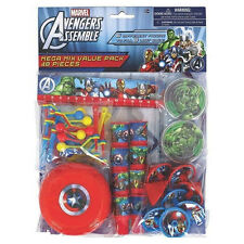 48 Piece Marvel Avengers Superhero Birthday Party Favor Mega Mix Value Pack