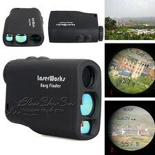 600M Distance Laser Range Finder Outdoor Hunting Golf Meter Speed Measure