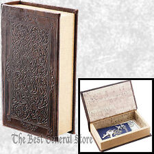 Small Brown Faux Book Safe with Magnetic Closure Craft Box Hidden Compartment