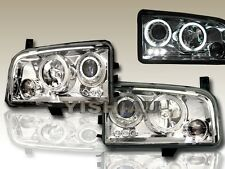 2006-2008 DODGE CHARGER LED DUAL HALO CHROME PROJECTOR HEADLIGHTS
