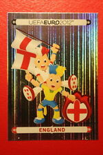 Panini EURO 2012 N. 484 ENGLAND MASCOTTE  NEW With BLACK BACK TOPMINT!!