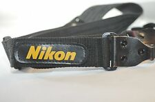 Wide camera shoulder strap W/ Nikon logo OLD SCHOOL Film era