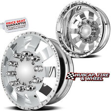 "AMERICAN FORCE BOLT 22.5""x8.25 POLISH DUALLY WHEELS RIMS 8 LUG 4 FORGED/2 STEEL"