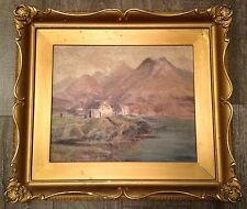 Early Antique Impressionist Maritime Painting Oil on Board ~ Canadian American