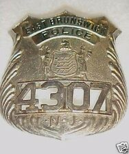 OBSOLETE - OLD POLICE BADGE EAST BRUNSWICK NEW JERSEY  CA LATE 1940'S