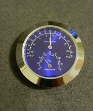 New 43mm Thermometer/Hygrometer Insert Cigar Humidor Weather Station