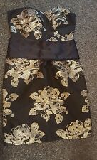 black and gold coast dress size 10 worn once
