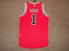 Derrick Rose Chicago Bulls Red Adidas Rev 30 Authentic Jersey sz L +0 Mesh New