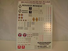 DECALS 1/43 LOGOS VOITURES FRANCAISES - COLORADO  4307