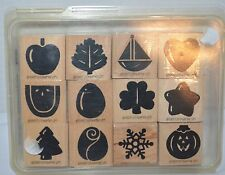NEW Stampin Up Seasonal Solids 1997 Months Holidays 12 Stamp set