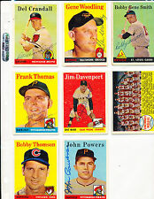 1958 Topps 413 Jim Davenport San Francisco Giants signed card rookie
