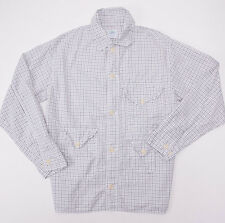 New $375 POST O'ALLS Gray Check Lightweight Cotton 'Cruzer' Jacket M Overalls