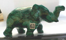 MALACHITE ELEPHANT ANIMAL CRYSTAL 265g 90mm SOUTH AFRICA HAND CARVED fz65