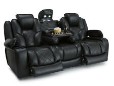 Seatcraft Prestige Row of 3 Sofa Media Black Power Home Theater Seating Chairs