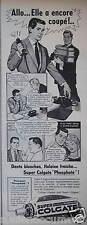 PUBLICITÉ 1959 SUPER DENTIFRICE PHOSPHATÉ COLGATE - ADVERTISING