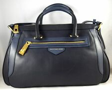 MARC BY MARC JACOBS ZIPLOCKER LARGE LO COLORBLOCK NAVY LEATHER SATCHEL BAG