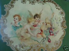 ANTIQUE VICTORIAN CHERUB FAIRIES FLORAL EMBOSS IRIS CELLULOID PHOTO ALBUM