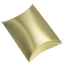 Gold Mini Pillow Jewellery Gift Box 12x8x3cm Pack f 1 (G33/2)