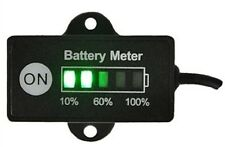 12V 24V Battery LEVEL MONITOR METER ALTERNATORE Gauge lampada indicatore di stato