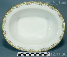 Antique Vignaud Limoges France THE MEUSE Pink Flowers Oval Vegetable Bowl (FF)