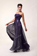 Long Strapless Formal Masquerade Gowns Bridesmaids Evening Prom Cocktail Dresses