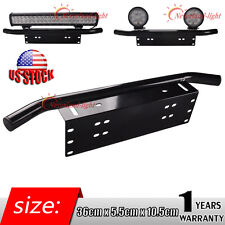 1x Bull Bar Style Front Bumper License Plate Mount Bracket Holder Off-Road Light