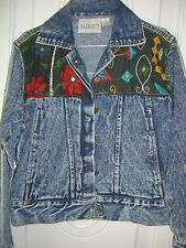 Women's Passports Long Sleeve Jean Jacket/Multi-color Embroidery Accents/Size S